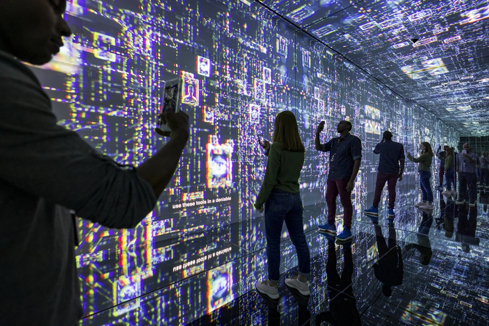 Cyber Infinity Room at the Spy Museum