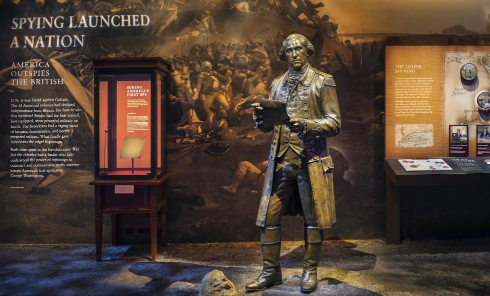 George Washington exhibit at the Spy Museum